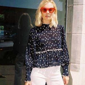 Ganni Polka dot blouse
